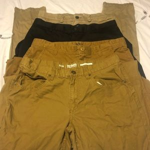 Men's pant lot 4 pairs 32w beer belly clear out